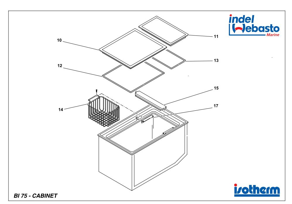 Built-In Box 75 Spare Parts
