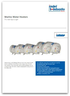 Data sheet for the Isotemp Spa water heater