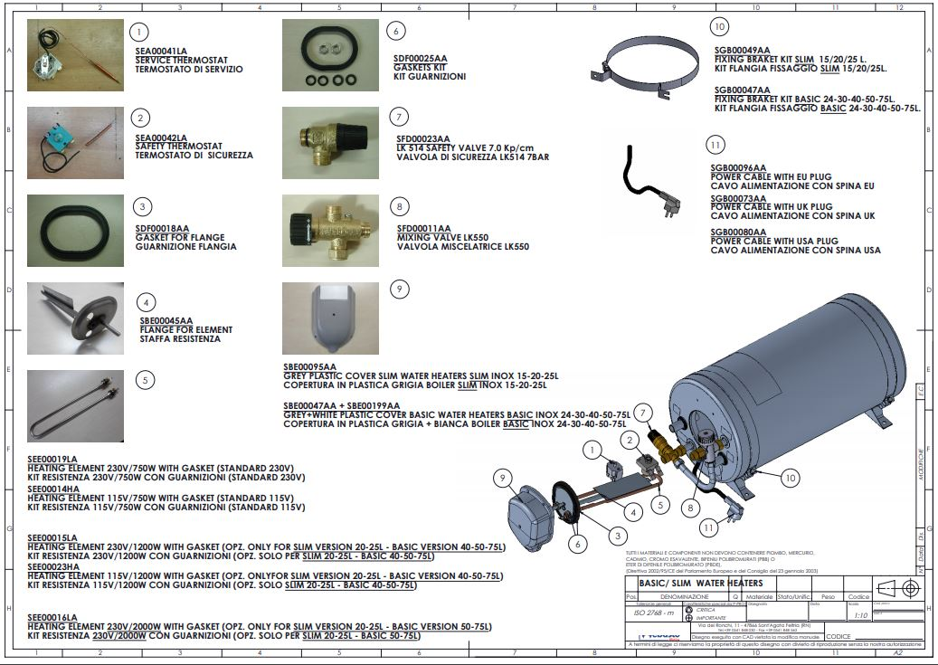 Isotemp Basic & Slim Spare Parts