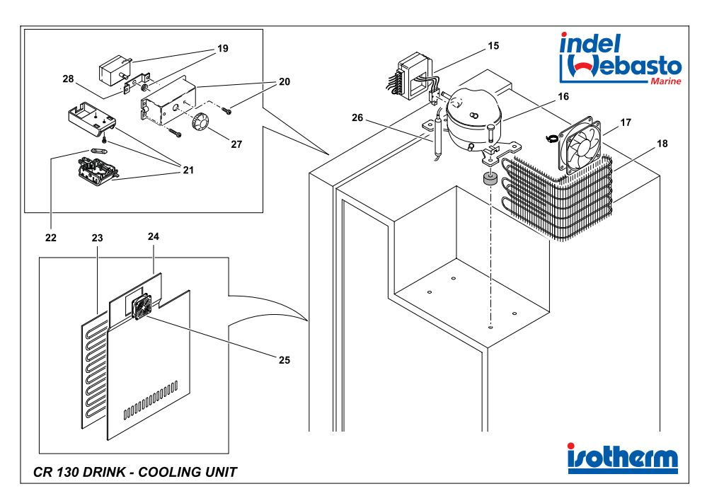 Isotherm Cruise 130 Drink Spare Parts 2