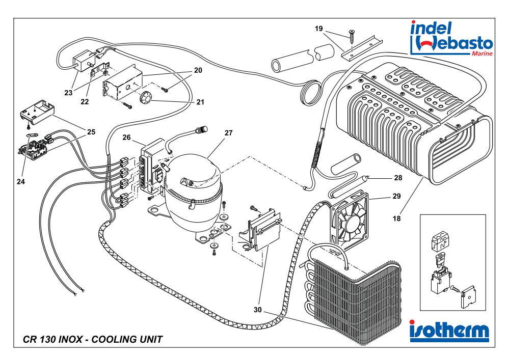 Isotherm Cruise 130 Inox Spare Parts 2