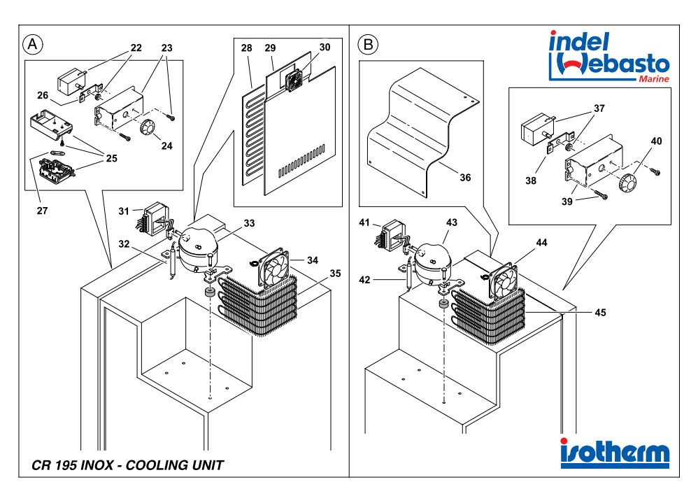 Isotherm Cruise 195 Inox Spare Parts 2