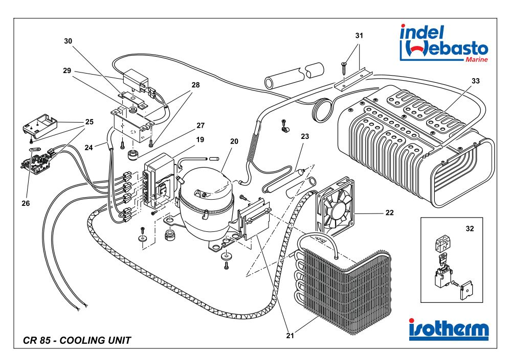 Isotherm Cruise 85 Spare Parts 2