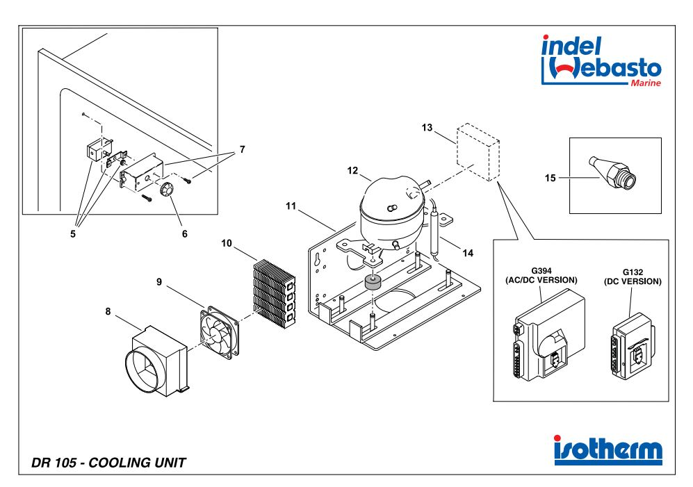 Isotherm Drawer 105 Spare Parts 2