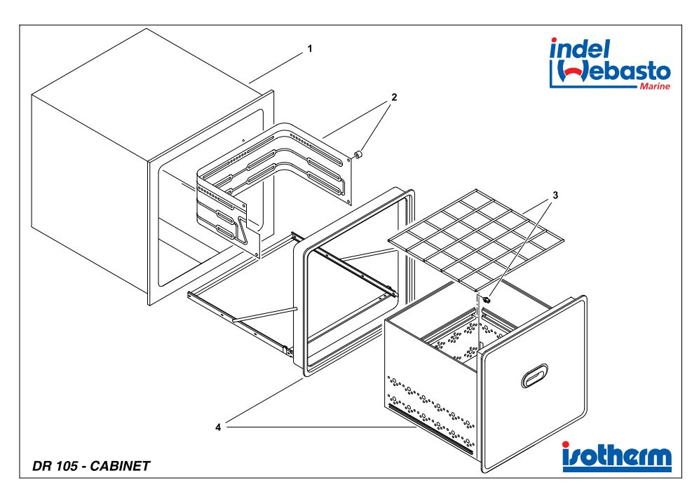 Isotherm Drawer 105 Spare Parts