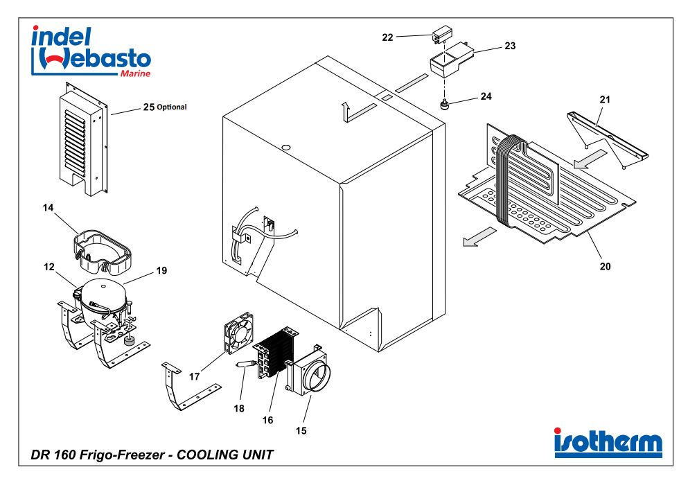 Isotherm Drawer 160 Inox Spare Parts 2