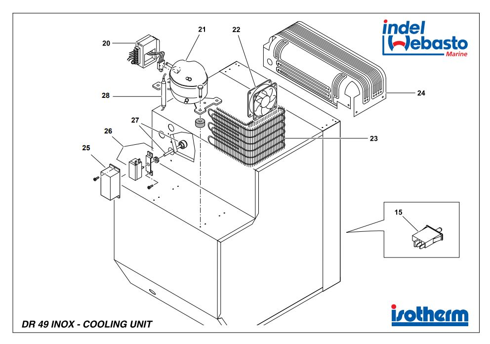 Isotherm Drawer 49 Inox Spare Parts 2