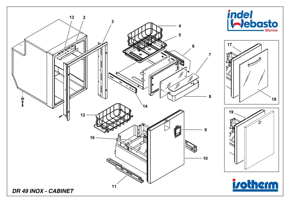 Isotherm Drawer 49 Inox Fridge Spare Parts - JPC Direct
