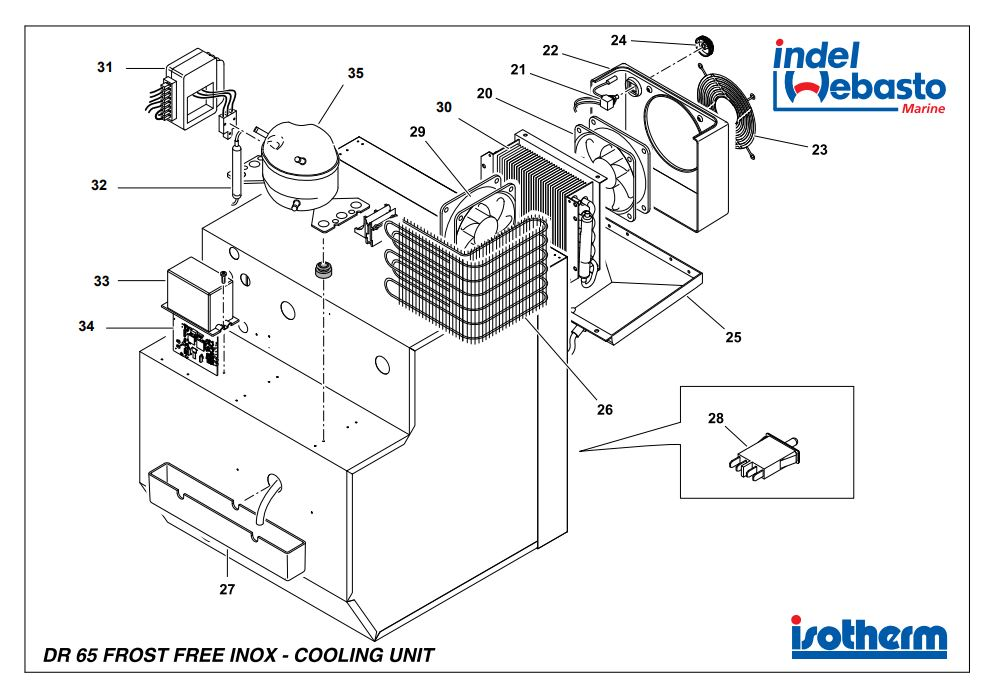 Isotherm Drawer 65 Inox Freezer Spare Parts - JPC Direct