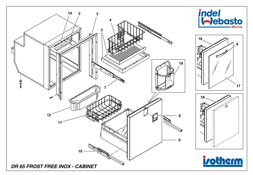 Isotherm Drawer 65 Inox Freezer