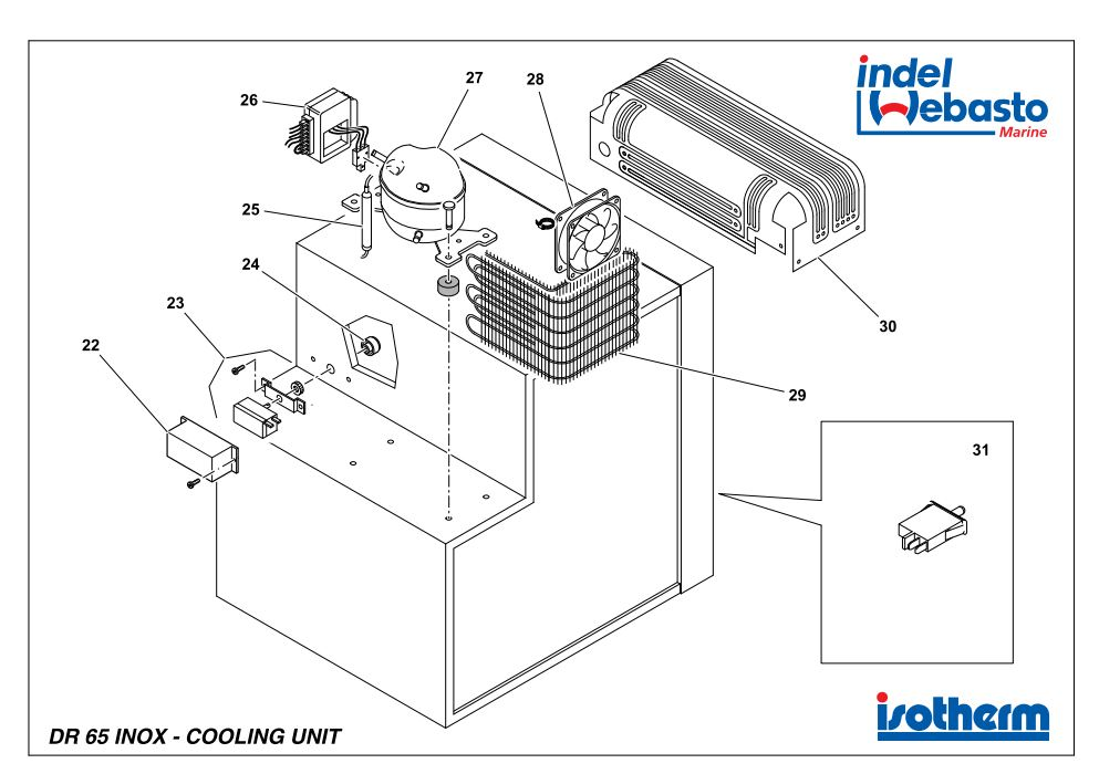 Isotherm Drawer 65 Inox Spare Parts 2