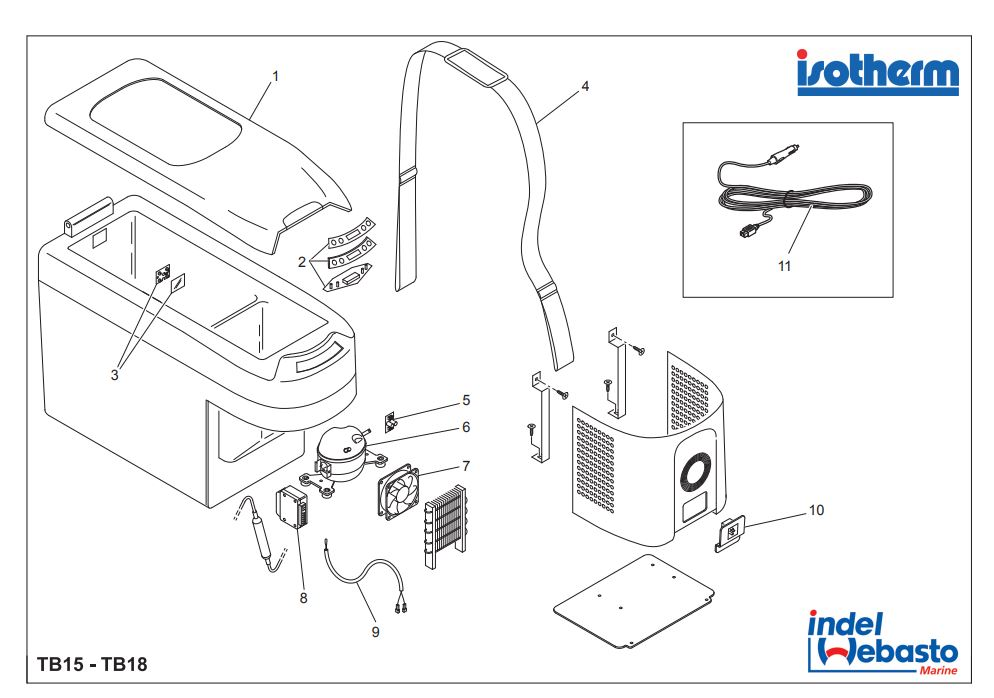Isotherm Travel Box 15-18 Spare Parts