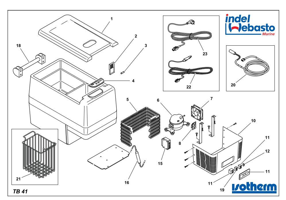 Isotherm Travel Box 41 Spare Parts