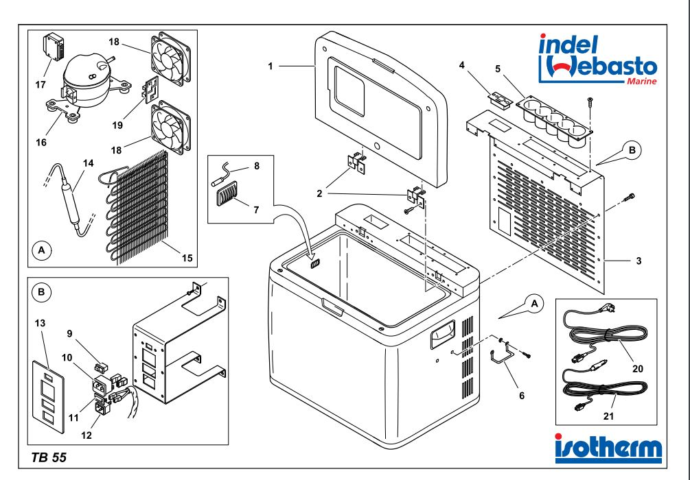 Isotherm Travel Box 55 Spare Parts