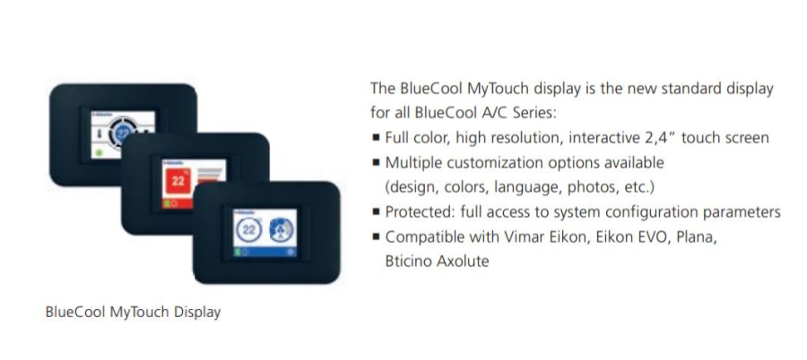 MyTouch Control for BlueCool S Series Air Conditioning Unit